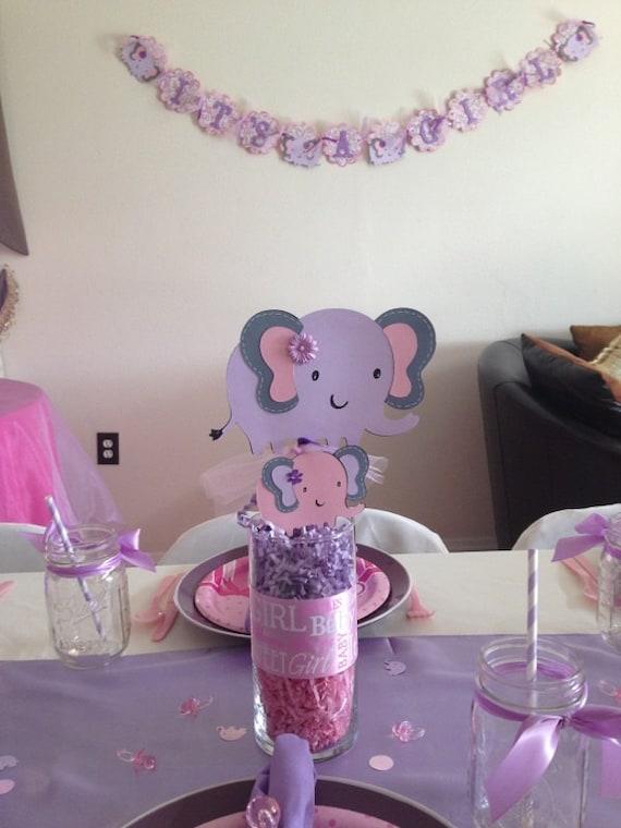 Items Similar To Elephant Centerpiece, Purple Elephant
