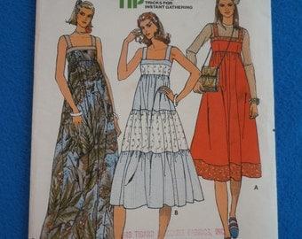 "Vintage 70's Butterick #6080 Sewing Pattern Women's Sun Dress High-Waisted Size Small Bust 31"""
