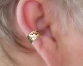 EAR CUFF Braided Brass Pattern