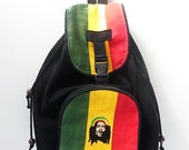 Backpack Rastafarian Bob Marley School book bag Hemp Fabric HMONG Thailand  (BG182-BOB)