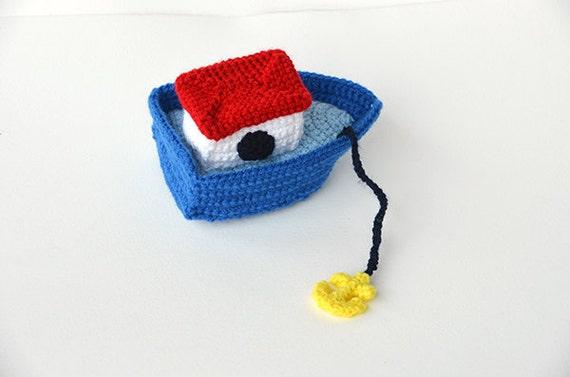 Boat Crochet Pattern, Boat Amigurumi Pattern, Amigurumi Boat Crochet ...