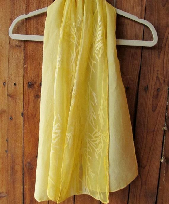 painted canary yellow silk scarf golden by cyndykempken