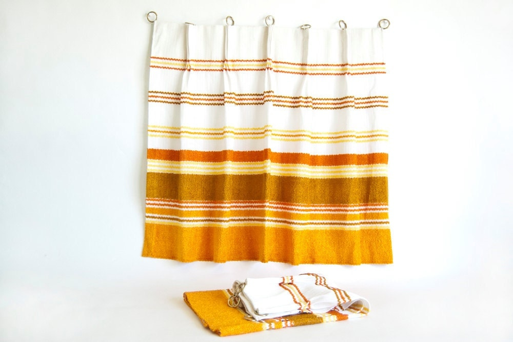 Curtains Ideas horizontal striped curtains : Cafe Curtains Kitchen and Bath Vintage Pinch by TwoStoryVintage