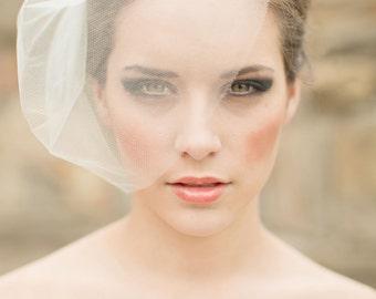 silk tulle veil blusher veil birdcage veil silk wedding veil small veil