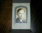 Vintage Photograph of a Boy in a Great Art Deco Frame 1930s 4.75 x 3.25