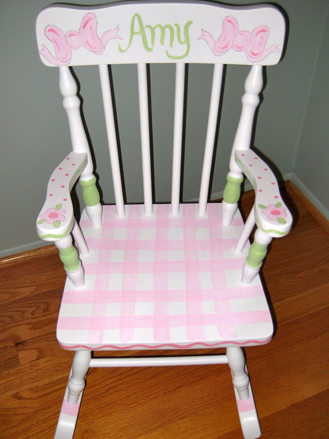 Children Personalized and Hand Painted Rocking Chair
