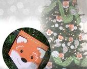 Christmas Banner Fox Banner Fox Decoration Woodland Banner Holiday decoration pdf : BA0205