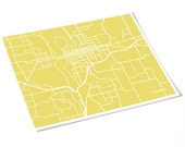 Olympia WA City Map Art Print / Washington Art Modern Line Poster / 8x10 / Choose your color