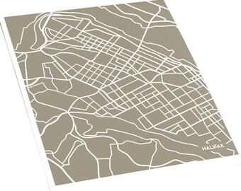 Halifax NS City Map Art Print / Nova Scotia Canada Wall Art Poster / 8x10 / Choose your color