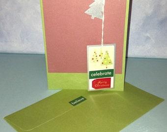 Celebrate Card Christmas Card Handmade Card