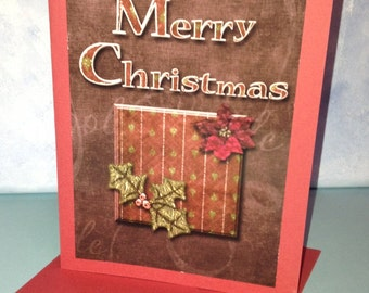 Merry Christmas Card Handmade Digital Photo Card