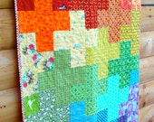 Rainbow Plus Baby or Toddler Quilt ~ Free Shipping