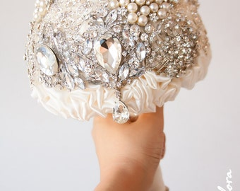 SALE!!! Diamante Brooch Bouquet - Bridal Bouquet - Wedding Bouquet