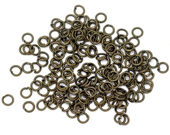 Bronze Jump Ring Antique - 4mm - 21 gauge- 500pcs - Ships IMMEDIATELY from California - F166a