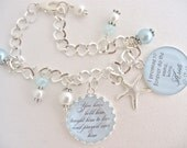 MOTHER of the GROOM Charm BRACELET Gift  Blue Beach Wedding Bracelet I Promise  Mother in Law Gift Starfish Wedding Jewelry Beautiful Quote