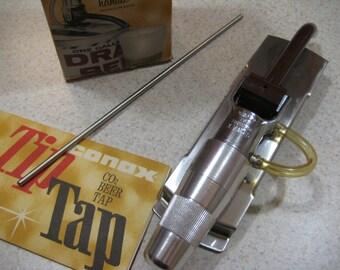 Vintage beer tap. Barware.  Conax brand. Chrome.