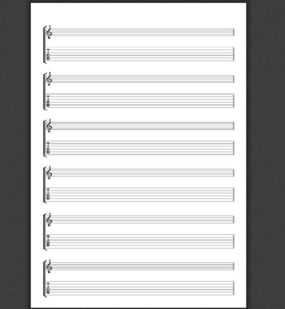 Printable Tab Sheets For Guitar - manuscript page of guitaristhelp ...
