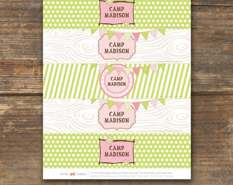 Bottle Labels Printable - Camp Theme
