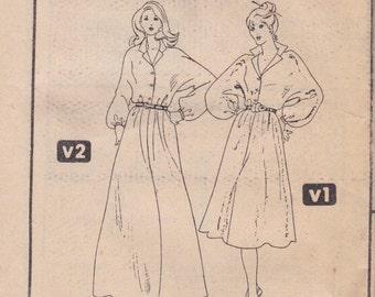 Comfortable 80s Dress Pattern Simplicity 5776 Size 14 Uncut