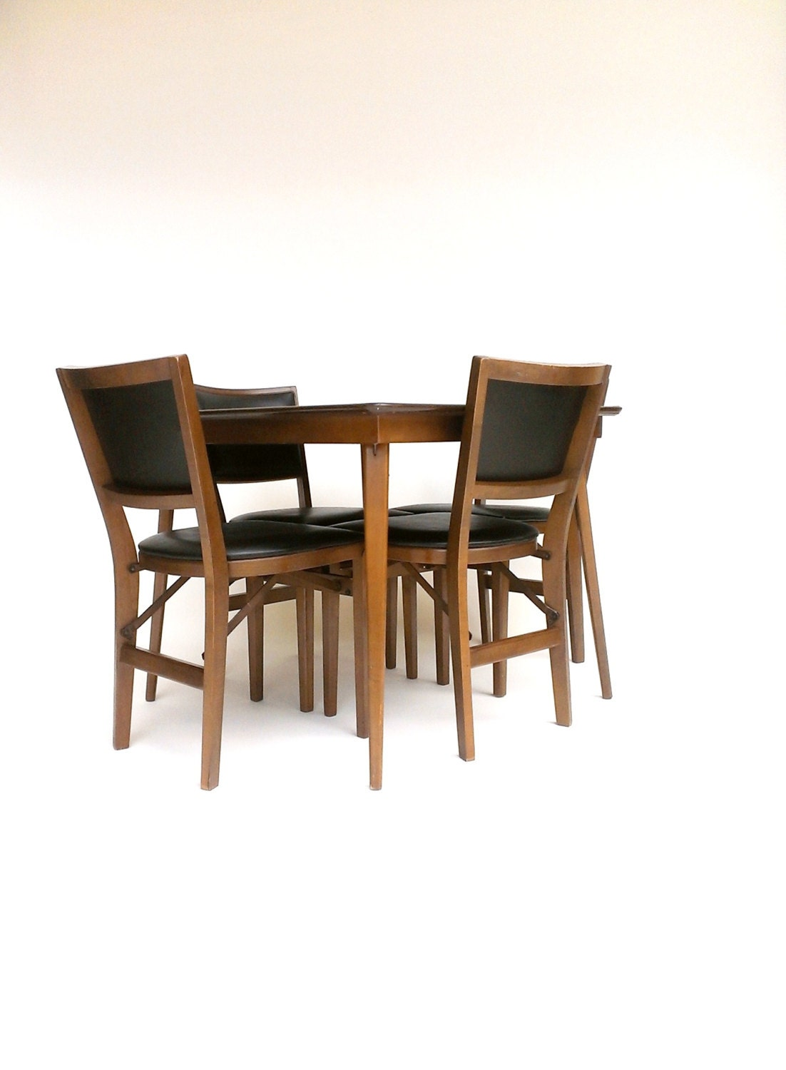 Stakmore folding table chairs card table four chair set for Table and chair set