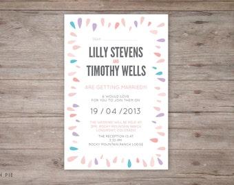 Wedding invitation spring theme