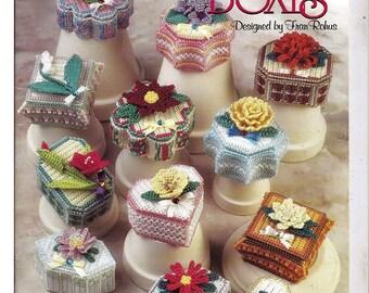 Flower Garden Boxes Plastic Canvas Pattern The Needlecraft Shop 983034