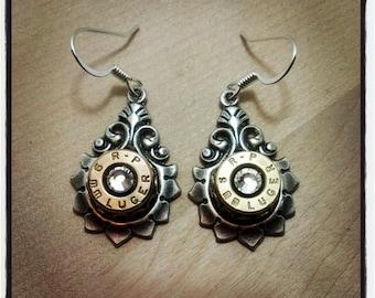 Bullet Earrings - 9mm Drop with Swarovski Crystals