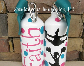 Cheerleader Water Bottle -Cheer Gift- Kid Gift- Sport Water Bottle
