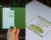 New Baby Letterpress Card - Congratulations on your little sprout! - spring green floral unisex gender neutral
