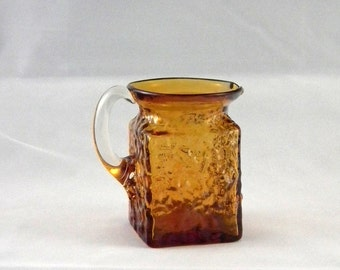 Pilgrim Glass 888 Topaz Rock Crystal Pitcher or Creamer - Vintage 1970s Window Glass