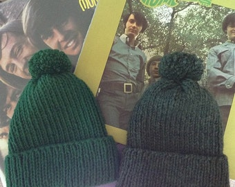 Mike Nesmith Style Knitted Wool Hat (The Monkees) -- pick your color!