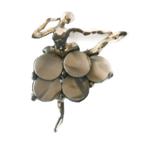 Mother of Pearl ballerina brooch pin in the style of Boucher eco-friendly
