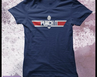 Star Wars t-shirt - Top Gun t-shirt - women's geek t-shirt - Punch it