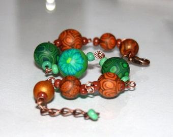 Nature - Polymer Clay Bracelet