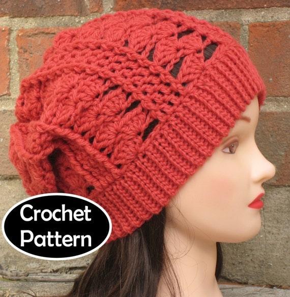 Slouchy Beanie Crochet Hats Patterns Crochet Hat Pattern Instant
