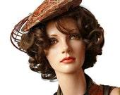 50s 60s Hat / Valerie Modes / Tilt Hat / Mid Century / Paisley / Velvet / Beret