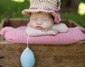 Newborn Fishing Hat - Photo Prop - Baby Girl