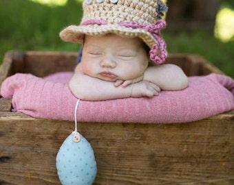 Newborn Fishing Hat - Photo Prop - Baby Girl