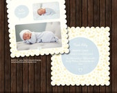 INSTANT Download5x5 Birth Announcement Card Template - B47