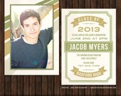 INSTANT Download5x7 Senior Graduation Announcement Card Template - G4