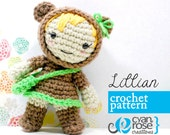 Instant Download - Lillian Bear Doll - amigurumi CROCHET PATTERN