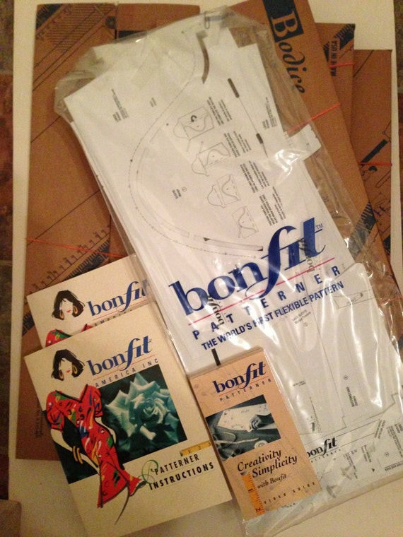 Bonfit Patterner DIY Clothing Bodice Size S, M, & L and Skirt Size M