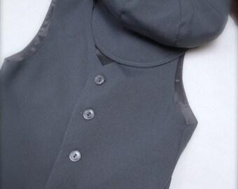 Boys Grey Vest, Grey Vest, Wedding Ring Bearer, Toddler Vest, Boys Gray Vest
