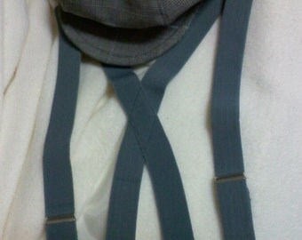 Teal suspenders for little boys,  adjustable suspenders