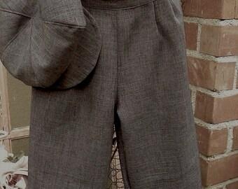 Sz 13-15 yrs vintage charcoal grey knickers, little boy knickers, ringbearer knicker pants