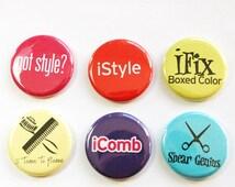 Hairdresser Magnets, Button magnet, Kitchen Magnet, Stylist, gift for hairdresser, humor, funny magnet,hair stylist, stocking stuffer (3265)