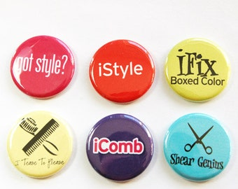 Hairdresser Magnets, Button magnet, Kitchen Magnet, Stylist, gift for hairdresser, humor, funny magnet,hair stylist, stocking stuffer (3265)