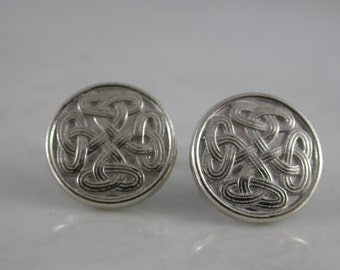 Celtic Knot Cufflinks  (Sterling Silver, White Gold, Yellow Gold, Bronze)