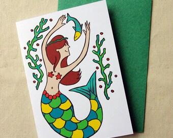 Greeting card - Little mermaid