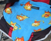 Waterproof car seat and buggy protector potty training pad, easy wash blue, car seat pad, seat protector, Leo lion by Suzielou